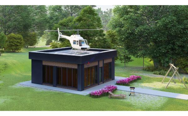 Беседка с вертолетной площадкой