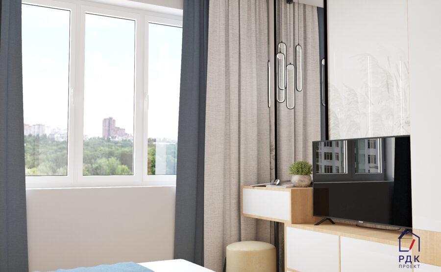Дизайн проект миниатюрной спальной комнаты