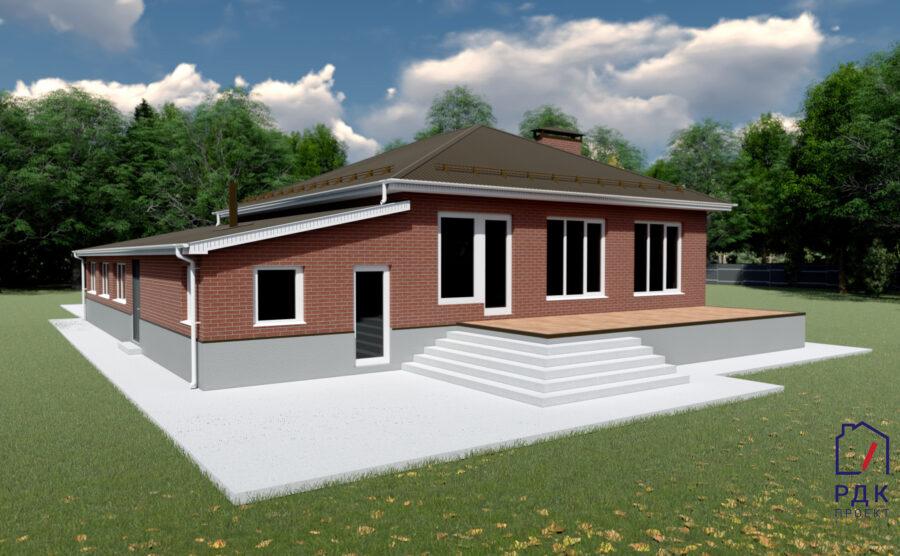 Проект одноэтажного дома в г. Нефтекамск